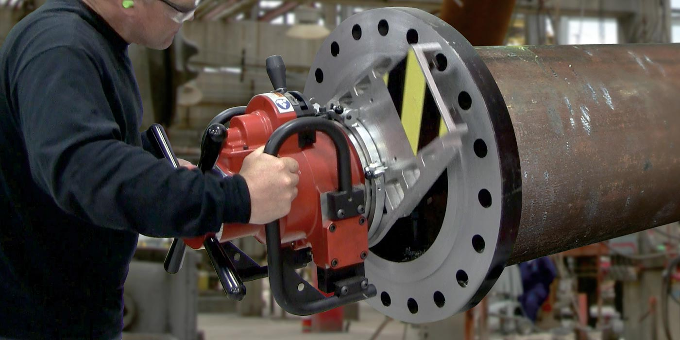 SpeedPrep EP 424 End Prep Beveler and  Flange Facer