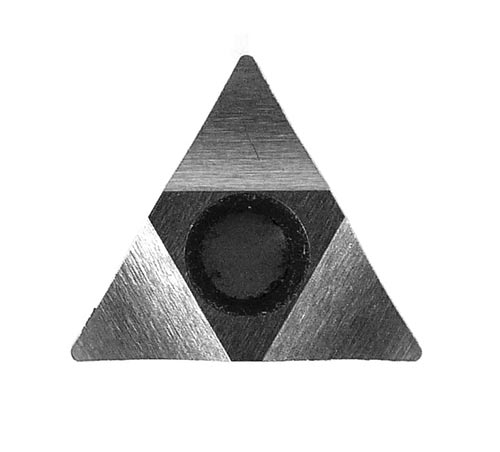 Triangle Single Point Flange Facing Tool Insert