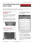 Vitals Mobile Operation Quick Guide