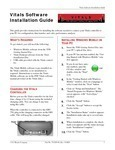 Vitals Software Install Guide