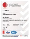 Certificate of Registration ISO 9001-2015