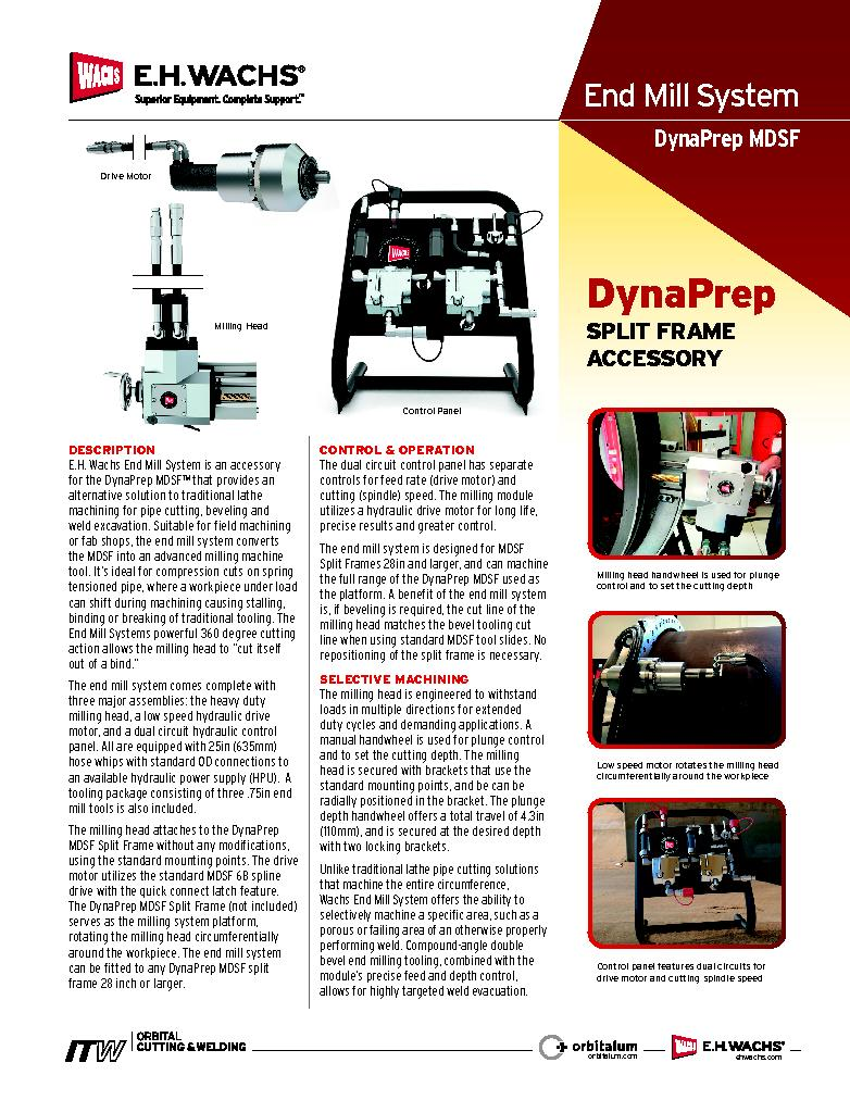 End Mill System for DynaPrep MDSF